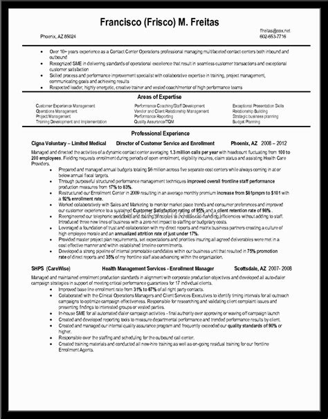 Sle Cv For Call Center Without Experience by Call Center Sle Resume With No Experience Philippinesalexa Document Document