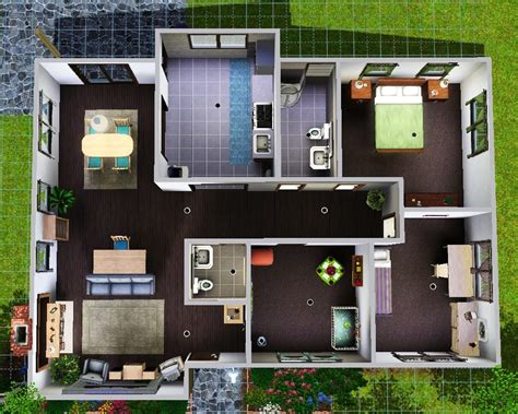 simple sims  house layouts placement house plans