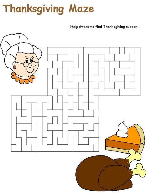 3 thanksgiving mazes thanksgiving worksheets for