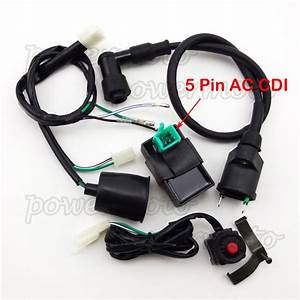 Wiring Loom Harness Kill Switch Ignition Coil Ac Cdi 110