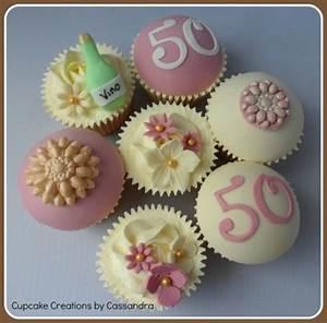 50th Birthday Cupcakes - cake by Cupcakecreations - CakesDecor