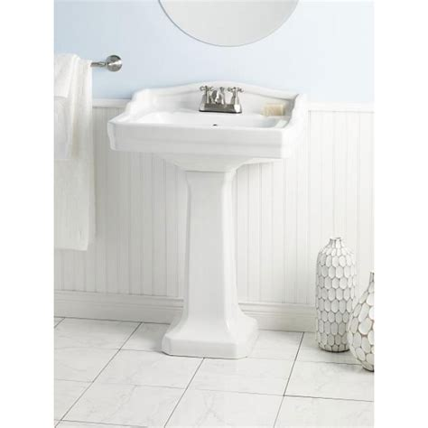 small pedestal sinks for small bathrooms cheviot essex small vitreous china pedestal bathroom sink