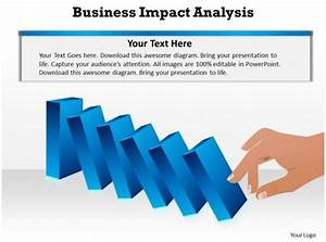 Business Impact Dominoes Falling Cause And Effect Analysis