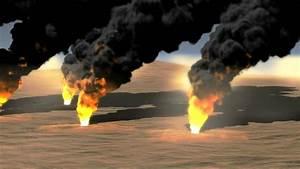 Oil Field Burning Stock Footage Video 5691482