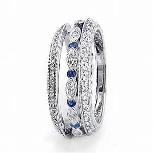 Blue sapphire and diamond women39s wedding band 94 for Women s platinum wedding rings
