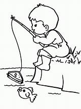 Fishing Coloring Boy Pages Drawing Colouring Rod Little Boys Sketch Print Printable Kid Fly Bestcoloringpagesforkids Adult Easy Cool Template Camping sketch template