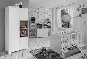Chambre Enfant Blanc : armoire 3 portes joris chambre bebe blanc gris sable blanc ~ Teatrodelosmanantiales.com Idées de Décoration