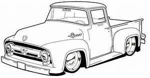 pickup truck coloring page coloring pages pinterest With 1955 chevy hot rods
