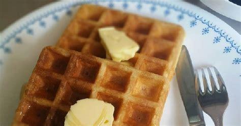 resep waffle enak  sederhana cookpad