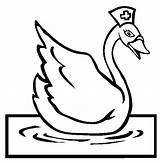 Coloring Swan Swans Colouring Sydney Nurse Activities Animal Template sketch template