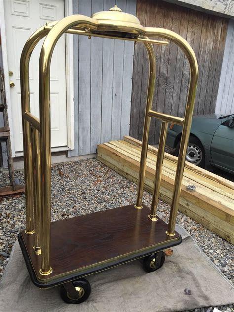 vintage brass hotel luggage cart hotel decor