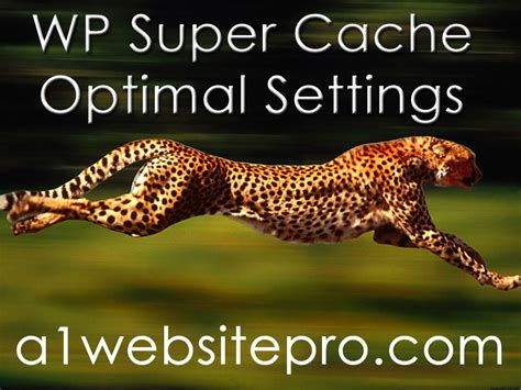 Wp Super Cache Settings For Optimal Performance Coding Man