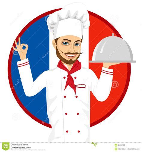 chef cuisine francais chef français de cuisine avec la grande moustache drôle