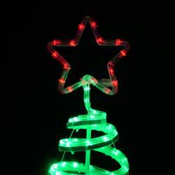 christmas spiral tree led rope light with star 120cm indoor outdoor mains decoration