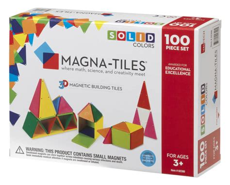 Magna Tiles 100 Target by Magna Tiles 174 Solid Colors 100 Set Magnatiles 174