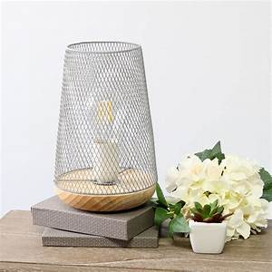 Simple, Designs, White, Wired, Mesh, Uplight, Table, Lamp