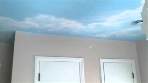 Sky Ceiling by Greg Paints Sky Ceiling Mural In Nursery