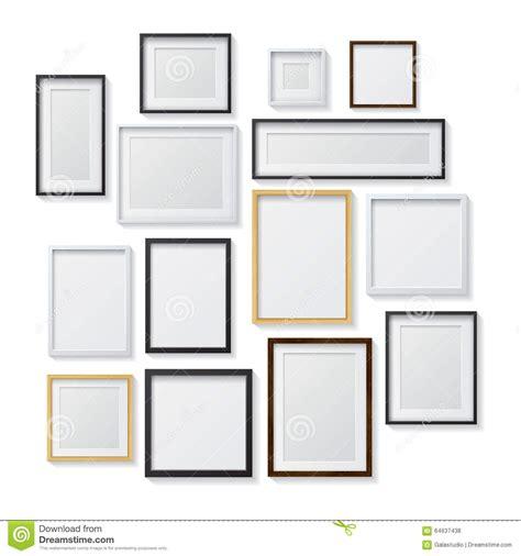 cornici nere insieme delle cornici in bianco bianche e nere e