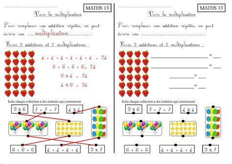 maths 13 ce1 vers la multiplication la classe des ce de villebois