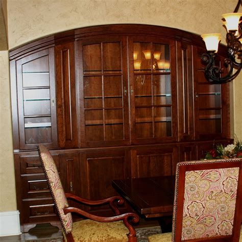custom cherry dining room china cabinet  carolina wood