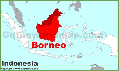 borneo location   indonesia map