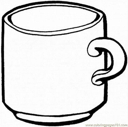 Coffee Coloring Pages Mug Printable Cup Chocolate