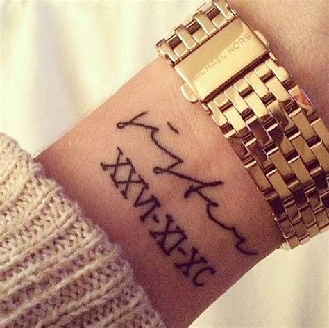 idees tatouage chiffre romain des chiffres