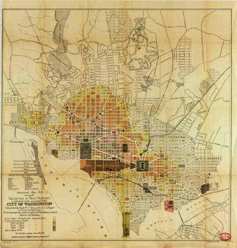 1891 Washington Property Value Map Ghosts of DC