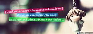 FRIENDSHIP QUOTES FOR FB COVERS image quotes at relatably.com