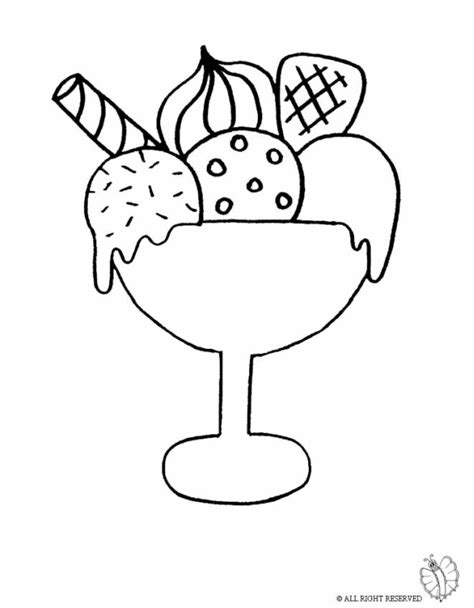 disegni cono gelato da colorare disegno di coppa gelato da colorare per bambini