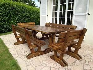 Table Bois Exterieur : table bois pour exterieur ~ Teatrodelosmanantiales.com Idées de Décoration