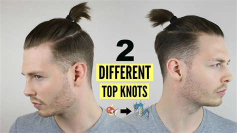 mens top knot man bun hairstyle tutorial