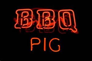 Neon BBQ Sign stock photo Image of restaurant sign