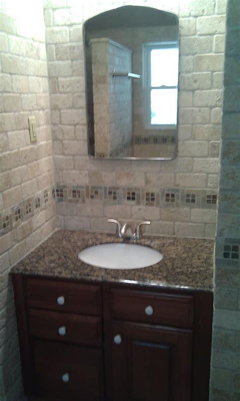 travertine   kitchen  bath  home