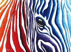 Zebra Colorful Animal Paintings