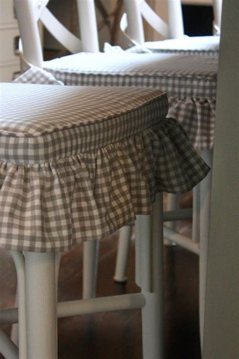 Lovely Lake House Tour grey gingham chair covers   Kitchen
