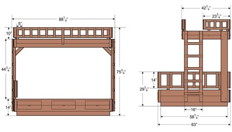 Typical Bunk Bed Dimensions