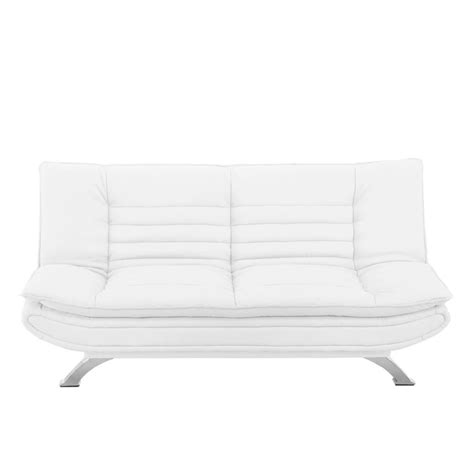canapé clic clac cuir banquette clic clac simili cuir blanc maison et mobilier