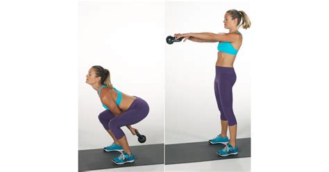 swing kettlebell squat fitness popsugar workout weight exercises hiit minute loss fill