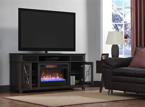 heathrow tifton oak infrared media electric fireplace