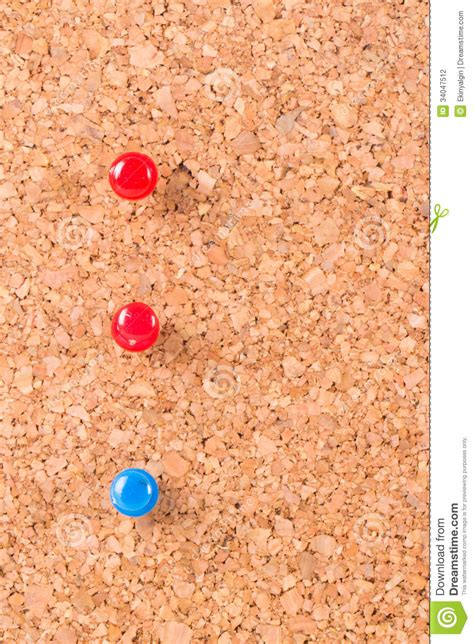 cork pin up pins on cork board stock photo image of attach