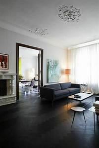 parquet opter pour un parquet fonce marie claire maison With commentaire faire la couleur taupe 8 quelle couleur pour les murs du living et de la cuisine