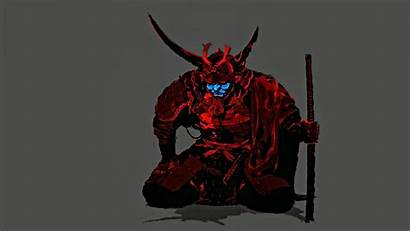 Samurai Mask Demon Ronin Ox Oni Cannibal