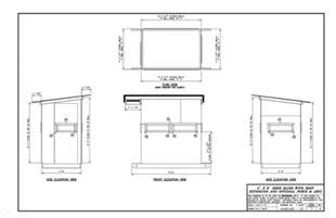 deer shooting house plans pictures critic my 4x6 deer blind layout plans will follow