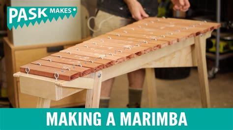 como realizar una marimba de material reciclado a marimba