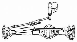 Dodge Ram 3500 Steering Drag Link  Solid Front Axle  2000