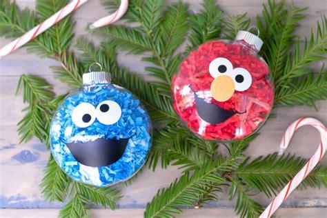sesame street christmas ornaments diy sesame ornaments hey let s make stuff