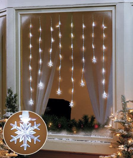 snowflake led window hanging icicle lights indoor home