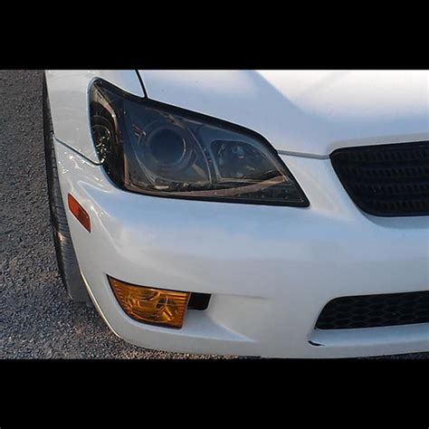 2001 05 lexus is300 smoke led halo projector headlights