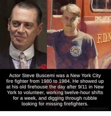 Steve Buscemi Memes - rdm actor steve buscemi was a new york city fire fighter from 1980 to 1984 he showed up at his